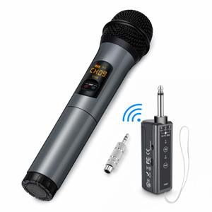 7. Wireless Microphone, 10 Channel UHF Wireless Bluetooth Microphone System