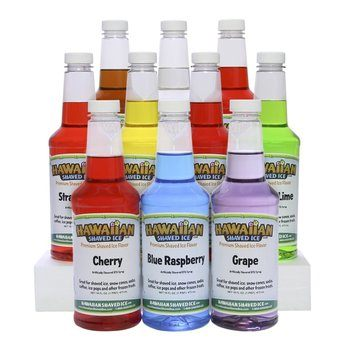 9. Hawaiian Shaved Ice Syrup 10 Pack