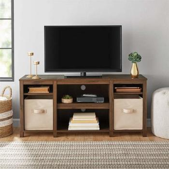10. Mainstay Parsons Cubby TV Stand Holds Up to 50-inch TV Stand