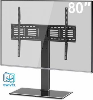 3. FITUEYES Universal TV Stand Base Swivel Tabletop Stand with Mount