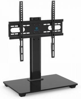 5. PERLESMITH Universal TV Stand - Table Top TV Stand for 37-55 inch TVs
