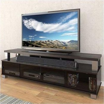 7. Pemberly Row 75-Inch TV Stand , 2 Tier - Ravenwood Black