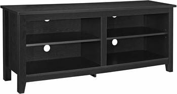 7. WE Furniture Best 60-inch TV Stand with Classic Wood