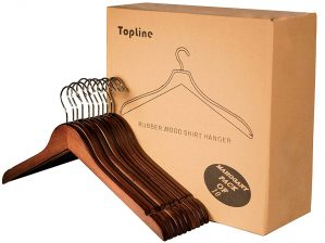 Topline Classic Wood Shirt Hanger
