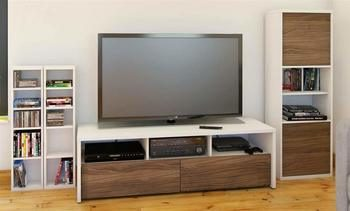 8. 4-Pc Eco-Friendly Contemporary Entertainment Set - 90-inch TV Stands