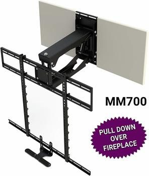9. MantelMount 90-inch TV Stand Pull Down TV Mount