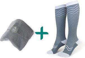 trtl Pillow & Trtl Socks Bundle - Scientifically Proven Super Soft Neck Support Travel Pillow