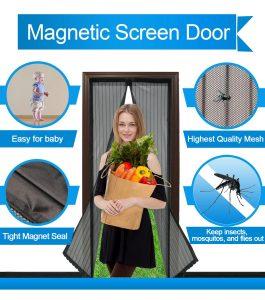 Magnetic Screen Door Mesh Curtain