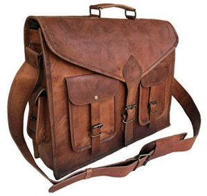 Vintage Leather Messenger Bag Laptop Bag Briefcase Satchel Bag