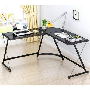 SHW L-Shaped Home Desk Corner Desk