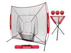 11. PowerNet DLX Baseball Pitching Net Combo 6 Piece Set