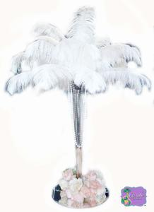 #11. White Tail Ostrich Feathers