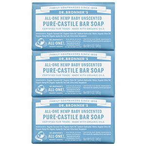#13. Dr. BronnerG��s - Pure-Castile Unscented Bar Soap