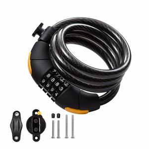 Master Lock 8143D 4ft x 5//16in Standard Combination Cable Lock Pack of 5