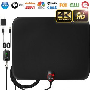 Amplified HD Digital TV Antenna Long 65-80 Miles Range