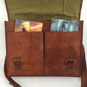 PL Leather Messenger Bag
