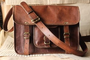 Vintage Handmade Leather Messenger Bag for Laptop Briefcase