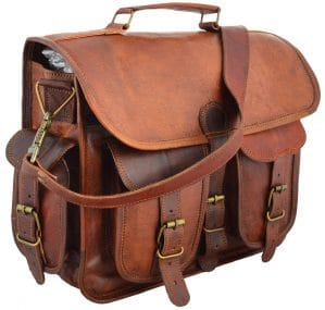 Handmade Leather Messenger Bag for Laptop