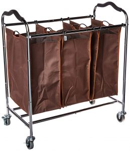 Laundry Hamper Sorter Heavy Duty Rolling Sorting Cart