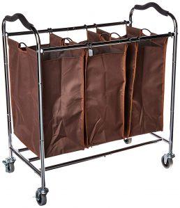 Laundry Hamper Sorter Heavy Duty Rolling Sorting Cart