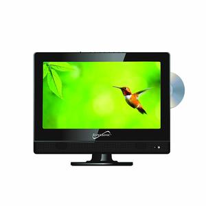 #2. LED 13.3-inch Widescreen HDTV with Built-in DVD Player…