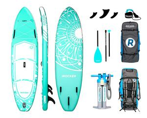 2. iROCKER Wakesurf Board All-Around Inflatable Stand Up Paddle Board