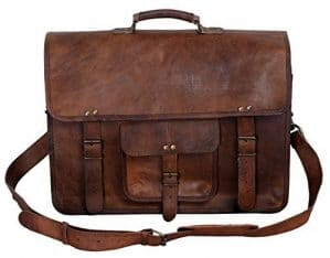 Men's Brown Handmade Leather Briefcase Best Laptop Messenger Bag