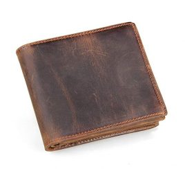 HRS Men's Genuine Handmade Leather Wallet
