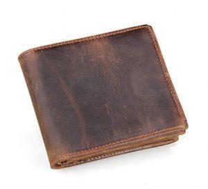 HRS Men's Genuine Handmade Leather Wallet