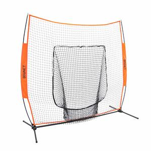 3. Best Baseball Pitching Net Bownet 7' x 7' Big Mouth X - Portable Sock Net