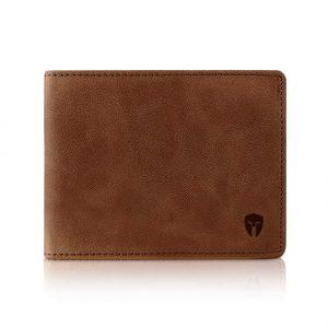 2 ID Window RFID Handmade Leather Wallet for Men