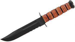 KA1218-BRK USMC Fighter Serrated Best Fixed Blade Knives