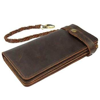 Itslife Men's Hand Made Leather Chain Wallet