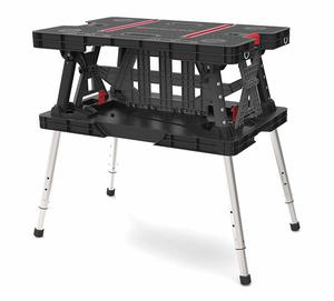 6. Keter Folding Compact Adjustable Workbench