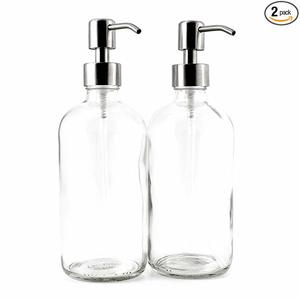 #7 16-Ounce Clear Glass Premium Boston Round Bottles