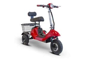 E-Wheels Sporty Red 3-Wheel Mobility Scooter