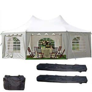 DELTA Canopies 29'x21' Decagonal Wedding Party Tent Canopy