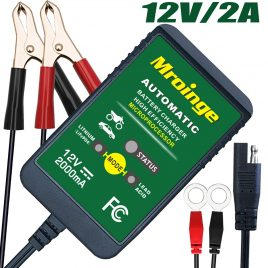 Mroinge 12V Automatic Trickle Battery Charger