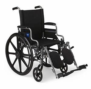 8. Medline Lightweight Wheelchair & User-Friendly Wheelchair, Gray