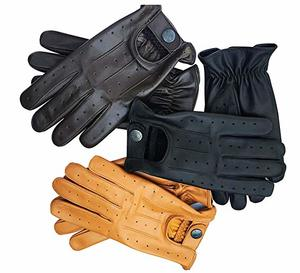 8. Mens Real Soft Leather Fashion Driving Gloves