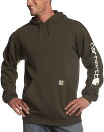 Carhartt's Men's midweight logo hoodie