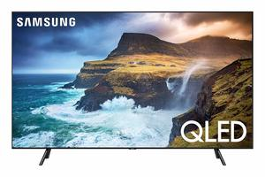 #9. Samsung QN75Q70RAFXZA Flat QLED 4K 75-Inch Q70 SeriesG��.