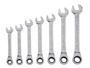 9. Stanley 94-543W 7-Piece Ratcheting Wrench Set