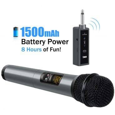 TONOR UHF Wireless Microphone Handheld Mic with Bluetooth Receiver