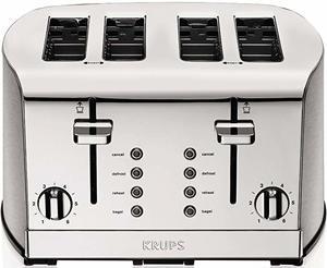 #1. KRUPS KH734D 4-Slot Toaster