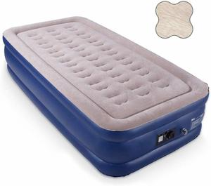 #10. HIWENA Twin Size Air Mattress with Integrated Pump