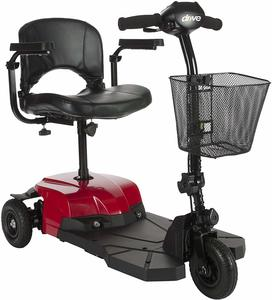 #2. Drive Medical Bobcat Compact X3 Transportable Power 3-Wheel Scooter