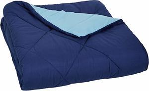 #4 AmazonBasics Reversible Comforter Blanket