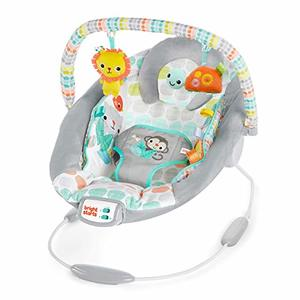 #4. Bright Starts Whimsical Cradling Wild Bouncer Seat with Melodies and Soothing Vibration