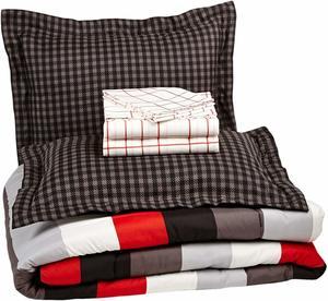 #5 AmazonBasics Lightweight 7-Piece Microfiber Comforter